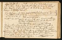 Page [141], note on the death of Alexander Watson's wife Abigail on March 6, 1774, mentioning the birth of his sons John on June 9, 1770 and Edward John on June 26, 1771