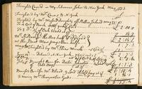Page [172], 'Freights carried in my schooner John to New York May 21 1773'