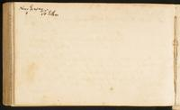 Page [174], blank page with note at head 'New Jersey to Esther [?]'