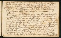 Page [185], note about the death of Alexander Watson's uncle John Watson on August 22, 1768