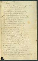 An undated letter (received May 16, 1806?) from Joel Clark to Mary Guion containing a poem.