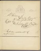 Vol. 1, flyleaf with title: 'A Diary of Daily Events for the year 1863 Kept by Charles W. Dayton And an account of expenses'.