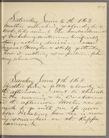 Vol. 1, p. 119, diary entries for June 6 and June 7, 1863.