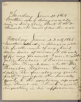 Vol. 1, p. 130, diary entries for June 21 and June 22, 1863.