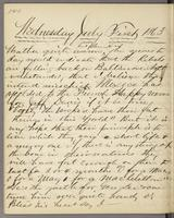 Vol. 1, p. 140, diary entry for July 1, 1863.