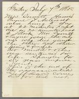 Vol. 2, p. 287, diary entry for July 7, 1865.