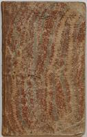 Richard Varick account book, 1775-1790, upper cover.