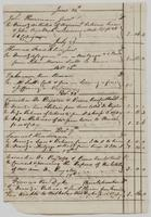 Richard Varick account book, 1775-1790, detached pages: 'A Book of Account of Debts due to John Scott, Esqr., & Burchard Varick in Copartnership commencing May 28, Dom. 1773,' p. [3], June 24, 1774-December 12, 1774.