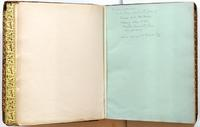 Diary, endpapers with inscription relating to publication of diary in 1942.