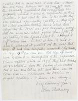 Letter from Ellen McCauley to Admiral Davis, dated Jamestown, Rhode Island, September 1904, describing reason for missing pages 15 and 16, p. [3].