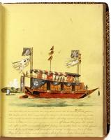Diary, p. 69, March 3, 1854, with illustration of boat with caption 'Prince's Barge' at head.
