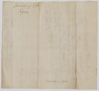 """Journal of Debtor Legacy,"" from John Varick to the estate of Derick Dey, undated, verso."