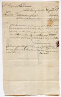 Account and note from Jacob Van Voorhis, May 1783, recto.