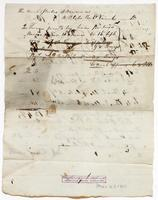 Account  and receipt from Robert Watts to Col. Biddle via Richard Varick, November 1, 1778, verso.