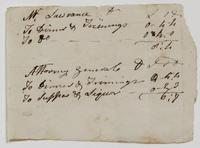 Account and list of names, May 4, 1790, recto.