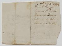 Account and list of names, May 4, 1790, verso.