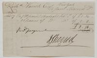 Account and receipt from Jacob Sherred to Richard Varick for payment received, dated December 31, 1804, recto.