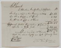 Account and receipt from Abraham Van Gelder to Richard Varick for payment received, dated March 28, 1805, recto.