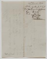 Account and receipt from Abraham Van Gelder to Richard Varick for payment received, dated March 28, 1805, verso.