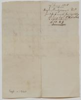 Receipt from Hugh Montgomery to Richard Varick for monies paid, May 29, 1805, verso.