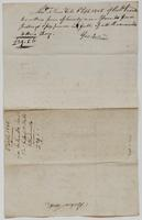 Account and receipt from George Ireland to Richard Varick for payment received, dated September 6, 1805, verso.
