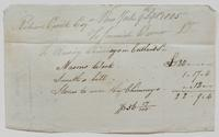 Bill from Jeremiah Warner to Richard Varick for payment received, dated September 9, 1805, recto.