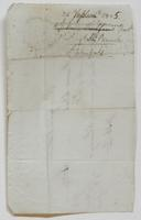 Bill from Jeremiah Warner to Richard Varick for payment received, dated September 9, 1805, verso.