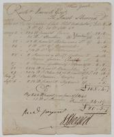 Account and receipt from Jacob Sherred to Richard Varick for payment received, dated December 23, 1805, recto.