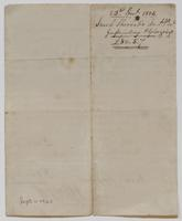 Account and receipt from Jacob Sherred to Richard Varick for payment received, dated December 23, 1805, verso.