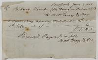 Account and receipt from Matthew McEvers & Son to Richard Varick for payment received, dated December 24, 1805, recto.