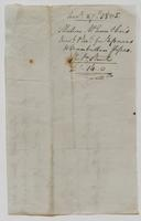 Account and receipt from Matthew McEvers & Son to Richard Varick for payment received, dated December 24, 1805, verso.