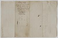 Account and receipt from George Gosman to Richard Varick for payment received, dated July 3, 1806, verso.