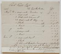Account and receipt from George Ireland to Richard Varick for payment received, dated July 9, 1806, recto.