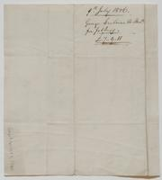 Account and receipt from George Ireland to Richard Varick for payment received, dated July 9, 1806, verso.