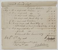 Account and receipt from George Ireland to Richard Varick for payment received, dated December 24, 1806, recto.