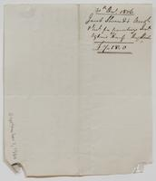 Account and receipt from Jacob Sherred to Richard Varick for payment received, dated December 30, 1806, verso