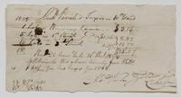 Account and receipt from Abraham Van Gilder to Richard Varick for taxes owed on 10th Ward property, December 21, 1808, recto.