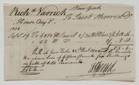 Account and receipt from Jacob Sherred to Richard Varick, December 22, 1808, recto.