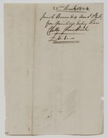 Account and receipt from Jacob Sherred to Richard Varick, December 22, 1808, verso.
