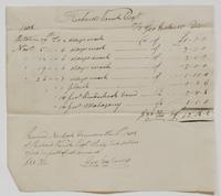 Account and receipt from George Ireland to Richard Varick for payment received, dated December 8, 1808, recto.