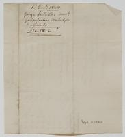 Account and receipt from George Ireland to Richard Varick for payment received, dated December 8, 1808, verso.