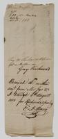 Request for Abraham Varick to pay Guy Richards, signed by Almon Ruggles of Vermillion, Ohio, July 21, 1813, verso.
