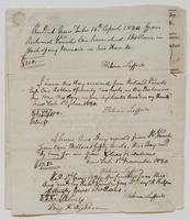 Receipts from Helena Lefferts for payments received from Richard Varick, November 2, 1829 to December [?] 1830, p. [1].