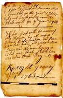 [?] to January 4, 1763.
