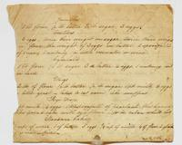 Recipes for jumbles, crullers, cymballs, whigs, roye drops, measure cake, undated.