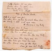 Lyrics for a song set to the tune of 'Yankee Doodle,' undated, recto.