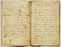 Recipe for plain cake, gingerbread, and pickled oysters, undated.