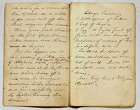 Recipe for pickled oysters [cont'd] and cottage pudding, undated.
