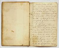 Recipe for Washington cake and instructions for pickling plums, undated.