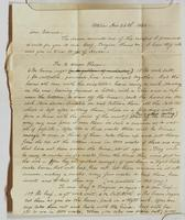 Letter from Mr. Baggs to Edward containing instructions for curing a dozen hams, curing beef, and corning beef, dated December 26, 1842, recto.